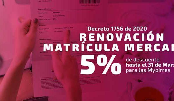 Renovación Matrícula Mercantil